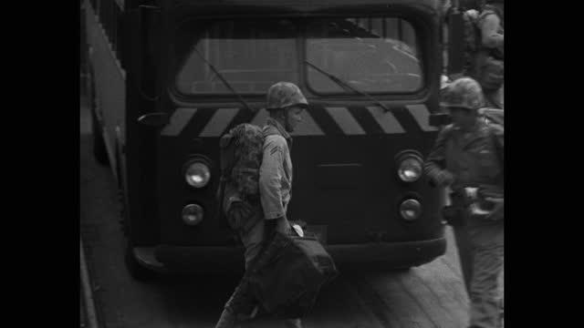 marines preparing to board ship at camp pendleton harbor. - mid adult men stock videos & royalty-free footage