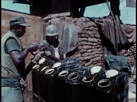 marines regroup during the vietnam war / khe sanh, south vietnam - film montage stock videos & royalty-free footage