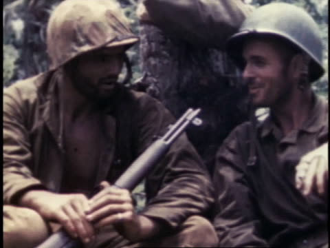 marines talking and smiling / guam - guam stock videos & royalty-free footage