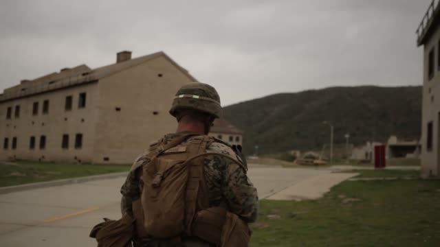marines test potential gear to fight in future complex terrains during urban advanced naval technology exercise 2018 at marine corps base camp... - base camp stock videos & royalty-free footage