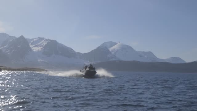 us marines together with norwegian coastal ranger conduct exercise platinum ren at fort trondennes harstad norway may 30 2019 - marines stock videos & royalty-free footage