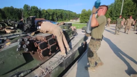 marines with 1st, 2nd and 4th tank battalions took part in the 15th annual tiger competition between august 24 and 28 2018 at fort knox, kentucky.... - armoured vehicle stock videos & royalty-free footage