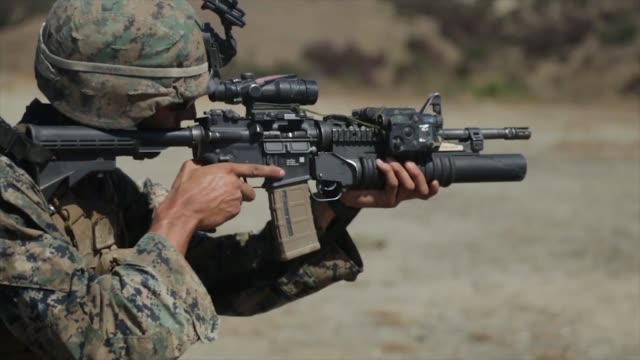 us marines with 1st marine division take part in super squad competition at marine corps base camp pendleton california the competition tests the... - bullet stock videos and b-roll footage
