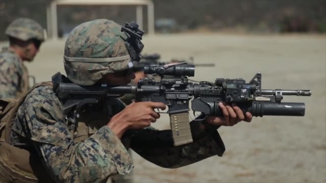 us marines with 1st marine division take part in super squad competition at marine corps base camp pendleton california the competition tests the... - us marine corps stock videos & royalty-free footage