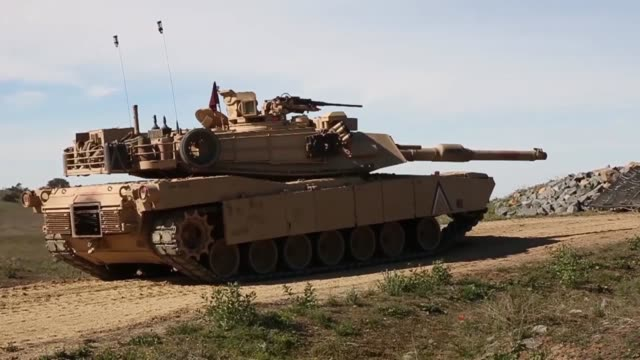 US Marines with 4th Tank Battalion 4th Marine Division Marine Forces Reserve conduct training on Camp Pendleton California