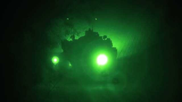 us marines with charlie company conduct a simulated live fire exercise with m1a1 abram battle tanks at camp pendleton california 9 june 2019 - night vision stock videos and b-roll footage