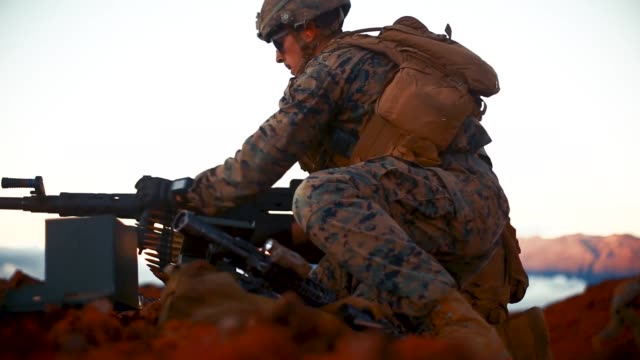 us marines with combined antiarmor team platoon 3rd battalion 3rd marine regiment conduct live fire training during exercise bougainville ii at the... - platoon stock videos and b-roll footage