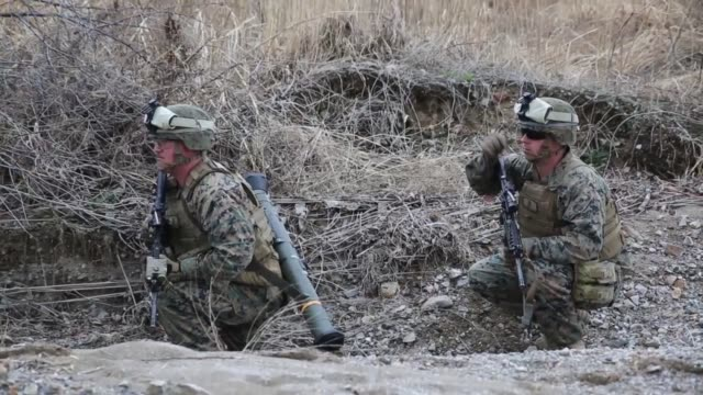 US Marines with Combined Arms Team 2 2nd Battalion 3rd Marines conducted various weapons training including the M136 ATA46 in support of Exercise...
