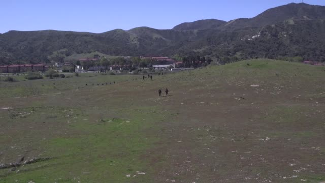 marines with golf company, marine combat training battalion, school of infantry west conduct their final exercise on camp pendleton, california on 28... - infantry stock videos & royalty-free footage