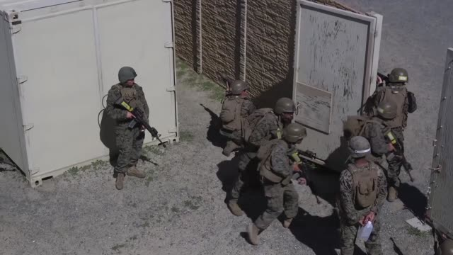 marines with golf company marine combat training battalion school of infantry west conduct their final exercise on camp pendleton california on 28... - battalion stock videos & royalty-free footage