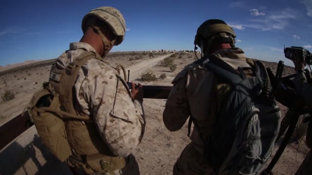 US Marines with Marine Aviation Weapons and Tactics Squadron One conduct an offensive air support exercise in support of Weapons and Tactics...