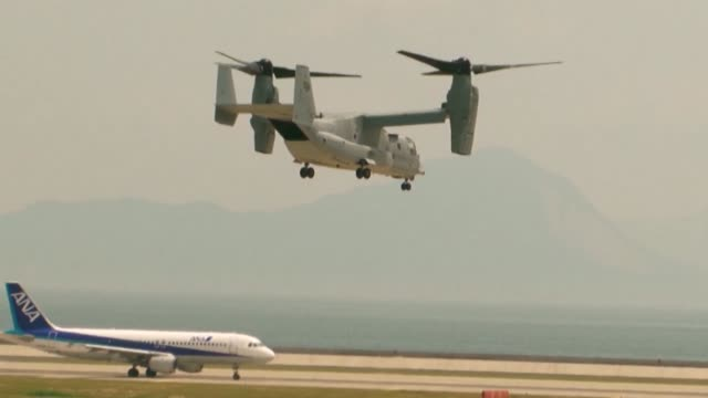 marines with marine medium helicopter squadron 262 conduct a functional evaluation flight on an mv22 osprey the 12 mv22 ospreys arrived at mcas... - osprey stock videos & royalty-free footage