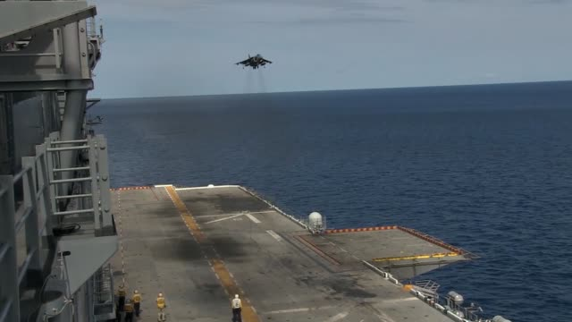 marines with marine medium tiltrotor squadron 262 reinforced, 31st marine expeditionary unit conduct flight operations off of the flight deck of the... - invertebrate stock videos & royalty-free footage