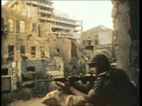 marines work to keep the peace in in beirut, lebanon. - marines stock videos & royalty-free footage