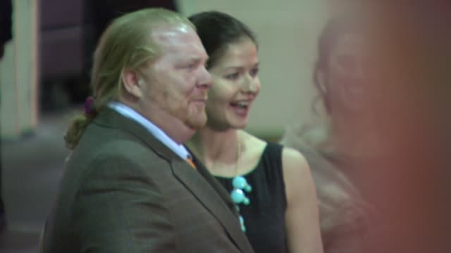 Mario Batali and Jill Hennessy at the Food Bank For New York City's 25th Anniversary and 5th Annual CanDo Awards Dinner at Abigail Kirsch's Pier...