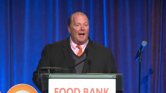 SPEECH Mario Batali jokes that he'd never been on a Vespa with Michael Strahan introduces Margaret Purvis at CanDo Awards Dinner Hosted by Food Bank...