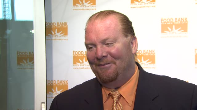 Mario Batali talks about his involvement in the Food Bank of New York the secrets to Iron Chef and what is going on with him for 2009 at the Food...