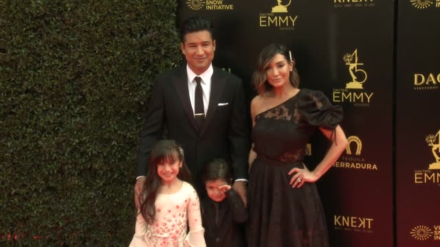 Mario Lopez and Courtney Lopez at the 2018 Daytime Emmy Awards at Pasadena Civic Auditorium on April 29 2018 in Pasadena California