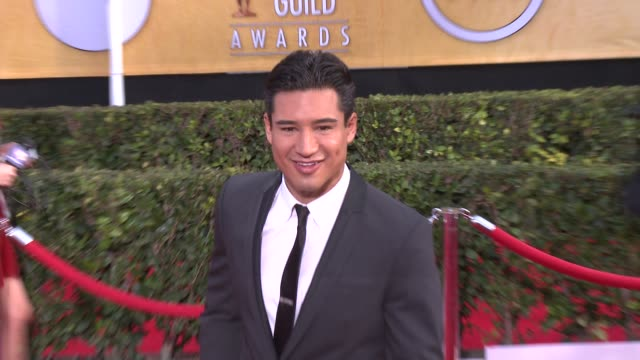 mario lopez at 20th annual screen actors guild awards arrivals at the shrine auditorium on in los angeles california - シュラインオーディトリアム点の映像素材/bロール