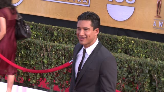mario lopez at 20th annual screen actors guild awards - arrivals at the shrine auditorium on in los angeles, california. - shrine auditorium stock videos & royalty-free footage
