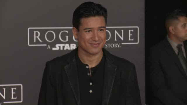 Mario Lopez at Rogue One A Star Wars Story World Premiere at the Pantages Theatre on December 10 2016 in Hollywood California