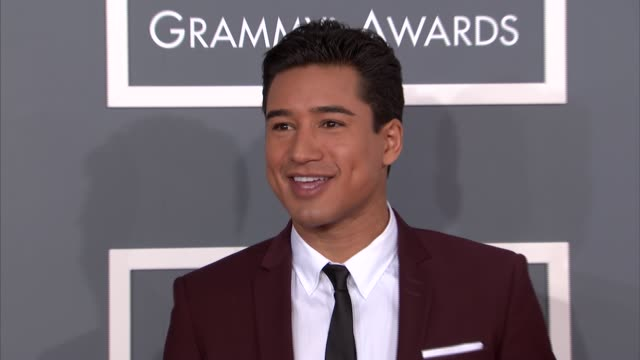mario lopez at the 55th annual grammy awards arrivals in los angeles ca on 2/10/13 - grammy awards stock videos and b-roll footage