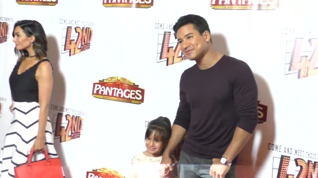 Mario Lopez Courtney Mazza Gia Francesca Lopez at the Opening Night Of 42nd Street at the Pantages Theatre in Hollywood in Celebrity Sightings in Los...
