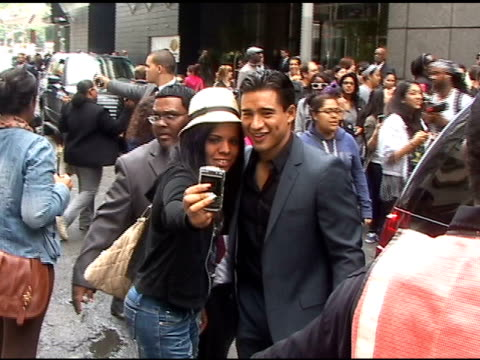 Mario Lopez is surrounded by fans as he departs the CW Upfronts in New York 05/19/11
