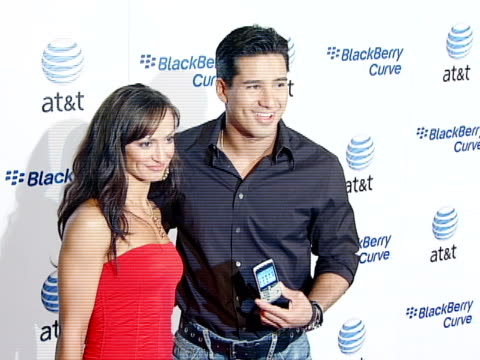 mario lopez, mario, karina smirnoff at the blackberry curve from at&t u.s. launch party at beverly hills california. - curve stock videos & royalty-free footage