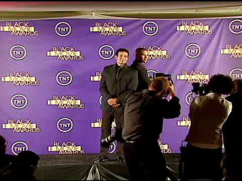 mario van peebles and shemar moore at the 2006 tnt black movie awards press room at wiltern theater in los angeles california on october 15 2006 - wiltern theatre stock videos and b-roll footage