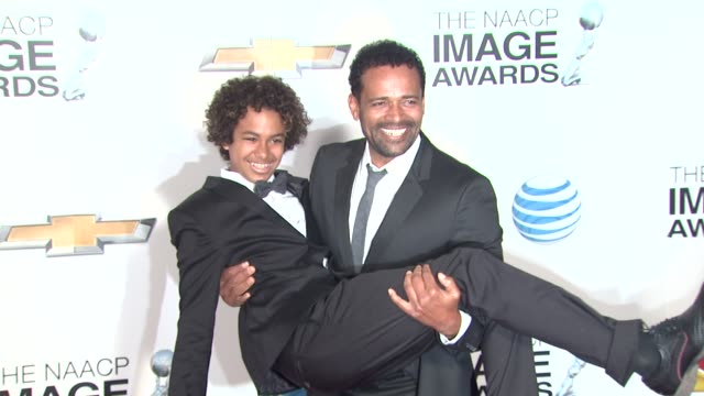 Mario Van Peebles Mandela Van Peebles at 44th NAACP Image Awards Arrivals on 2/1/13 in Los Angeles CA