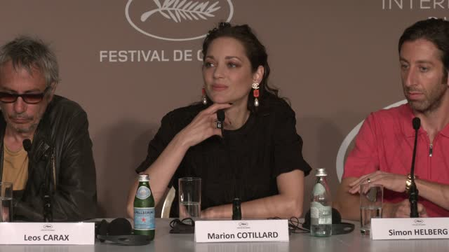 """marion cotillard, actress, on how she prepared for her role as an opera singer in """"annette"""", attends the """"annette"""" press conference during the 74th... - cannes stock videos & royalty-free footage"""