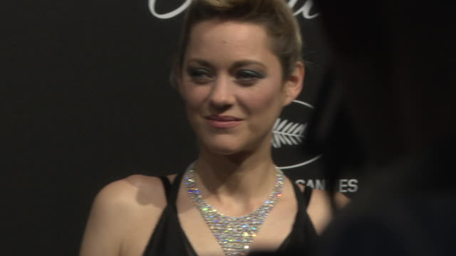 marion cotillard at chopard party the 71st annual cannes film festival on may 11 2018 in cannes france - 2018 video stock e b–roll