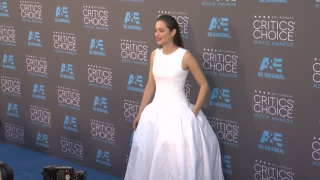 Marion Cotillard at the 20th Annual Critics' Choice Awards at Hollywood Palladium on January 15 2015 in Los Angeles California