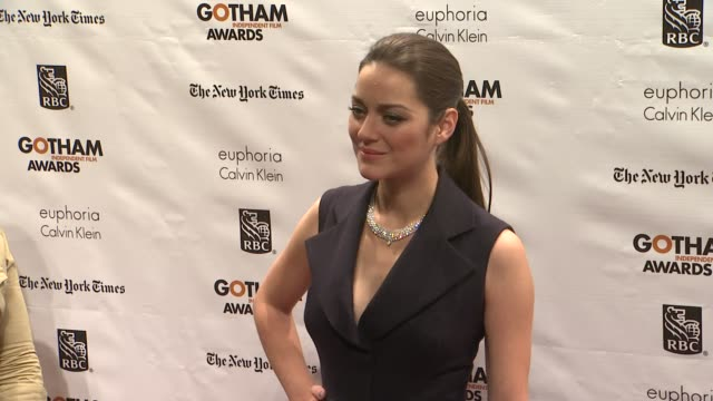 marion cotillard at the 22nd annual gotham independent film awards at cipriani wall street on november 26, 2012 in new york, new york - independent feature project stock videos & royalty-free footage