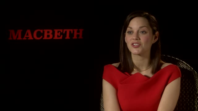 marion cotillard on doing shakespeare, reading it in english for the first time at 'macbeth' interviews on may 15, 2015 in cannes, france. - macbeth fictional character stock videos & royalty-free footage