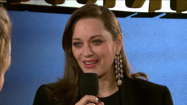 interview marion cotillard on her character first reading the script working with robert zemeckis what audiences can expect working with brad pitt... - robert zemeckis stock videos and b-roll footage