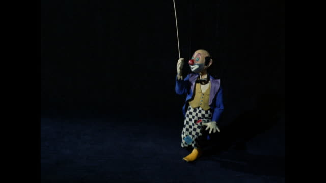 marionette clown spinning a plate - puppet stock videos & royalty-free footage