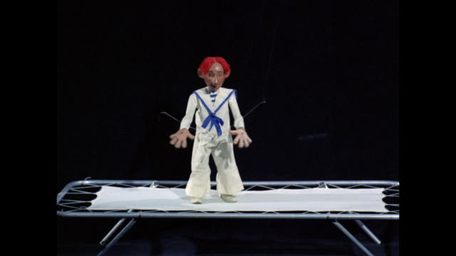 marionette trapeze artist - puppet stock videos & royalty-free footage