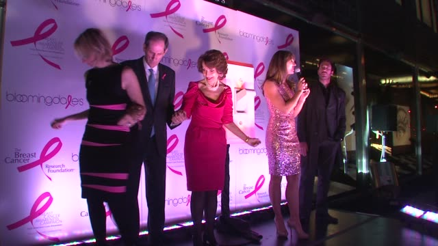 Marisa Acocella Marchetto Michael Gould Evelyn Lauder and Elizabeth Hurley at the 10th Anniversary of Estee Lauder Raising Funds for Breast Cancer at...