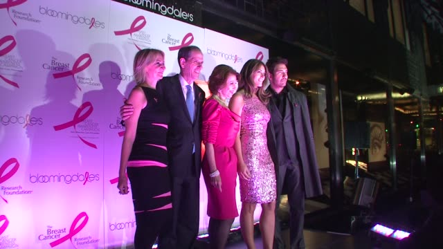Marisa Acocella Marchetto Michael Gould Evelyn Lauder Elizabeth Hurley and Dylan McDermott at the 10th Anniversary of Estee Lauder Raising Funds for...