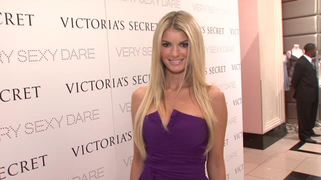 vídeos de stock, filmes e b-roll de marisa miller angel victoria's secret at the victoria's secret very sexy dare launch event at new york ny - victoria's secret angel