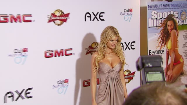marisa miller at the sports illustrated swimsuit issue party at the pdc in los angeles california on february 14 2007 - sports illustrated swimsuit issue stock videos & royalty-free footage