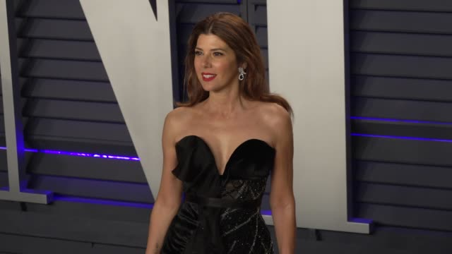 marisa tomei at 2019 vanity fair oscar party hosted by radhika jones at wallis annenberg center for the performing arts on february 24 2019 in... - marisa tomei stock videos & royalty-free footage