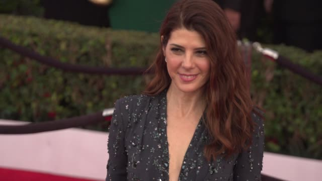 marisa tomei at 22nd annual screen actors guild awards arrivals in los angeles ca - marisa tomei stock videos & royalty-free footage