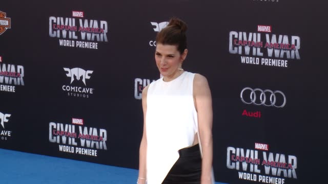 marisa tomei at marvel's captain america civil war world premiere at dolby theatre on april 12 2016 in hollywood california - marisa tomei stock videos & royalty-free footage