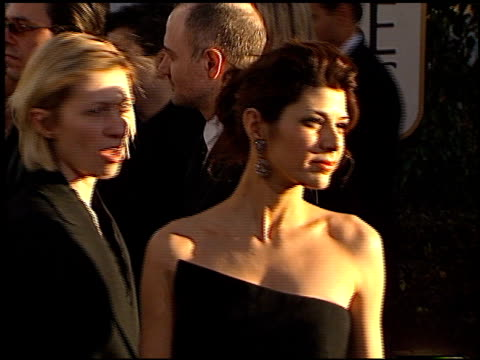 marisa tomei at the 2002 golden globe awards at the beverly hilton in beverly hills, california on january 20, 2002. - marisa tomei stock videos & royalty-free footage