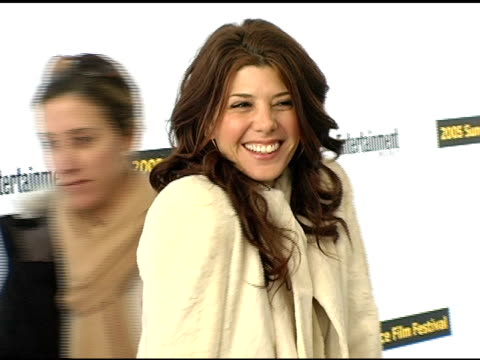 marisa tomei at the 2005 sundance film festival 'marilyn hotchkiss ballroom dancing and charm school' premiere at the eccles theatre in park city,... - marisa tomei stock videos & royalty-free footage