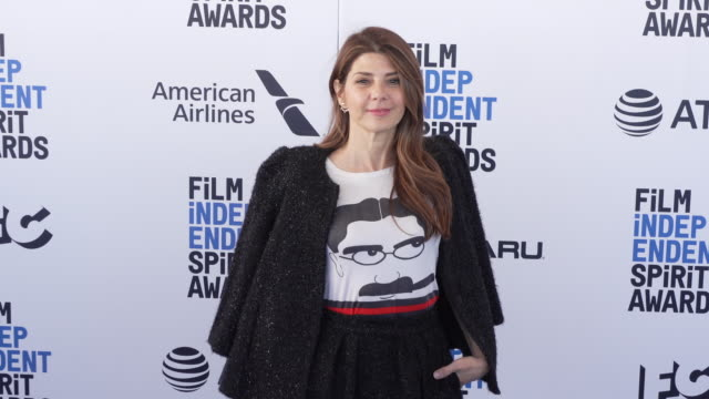 marisa tomei at the 2019 film independent spirit awards on february 23, 2019 in santa monica, california. - marisa tomei stock videos & royalty-free footage