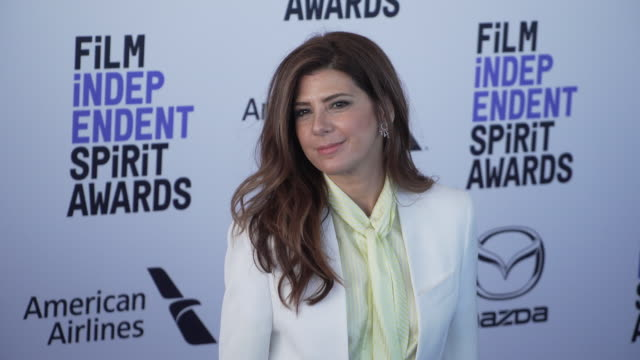 marisa tomei at the 2020 film independent spirit awards on february 08 2020 in santa monica california - marisa tomei stock videos & royalty-free footage